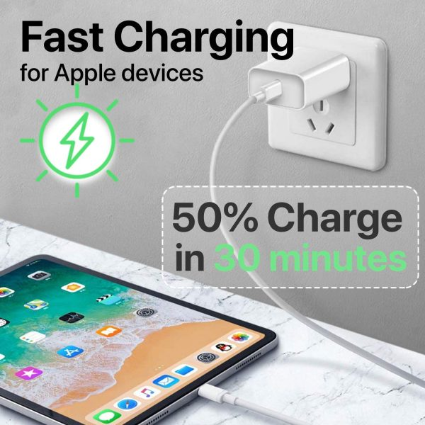 Iphone 11 Fast Charger (aple Mfi Certificate)18w Pd Power Adapter With Usb c To Lightning