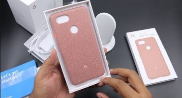 Google Fabric Case for Google Pixel 3 XL – Pink Moon